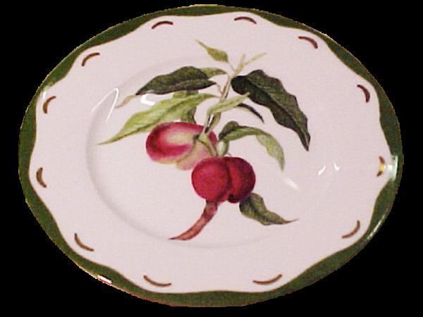 assiette porcelaine peches