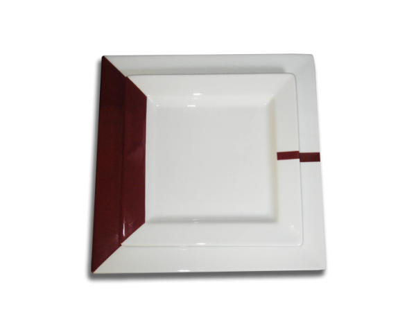 assiette carree porcelaine
