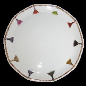 plat pompons porcelaine