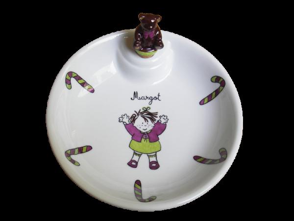 assiette chauffante en porcelaine