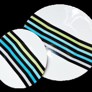 assiette rayures en porcelaine