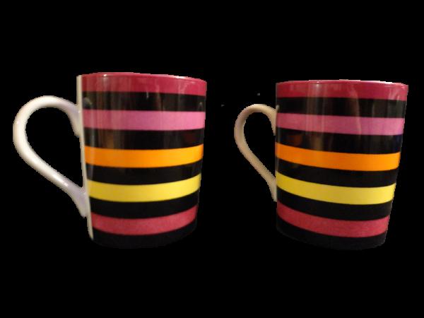 tasses rayures porcelaine