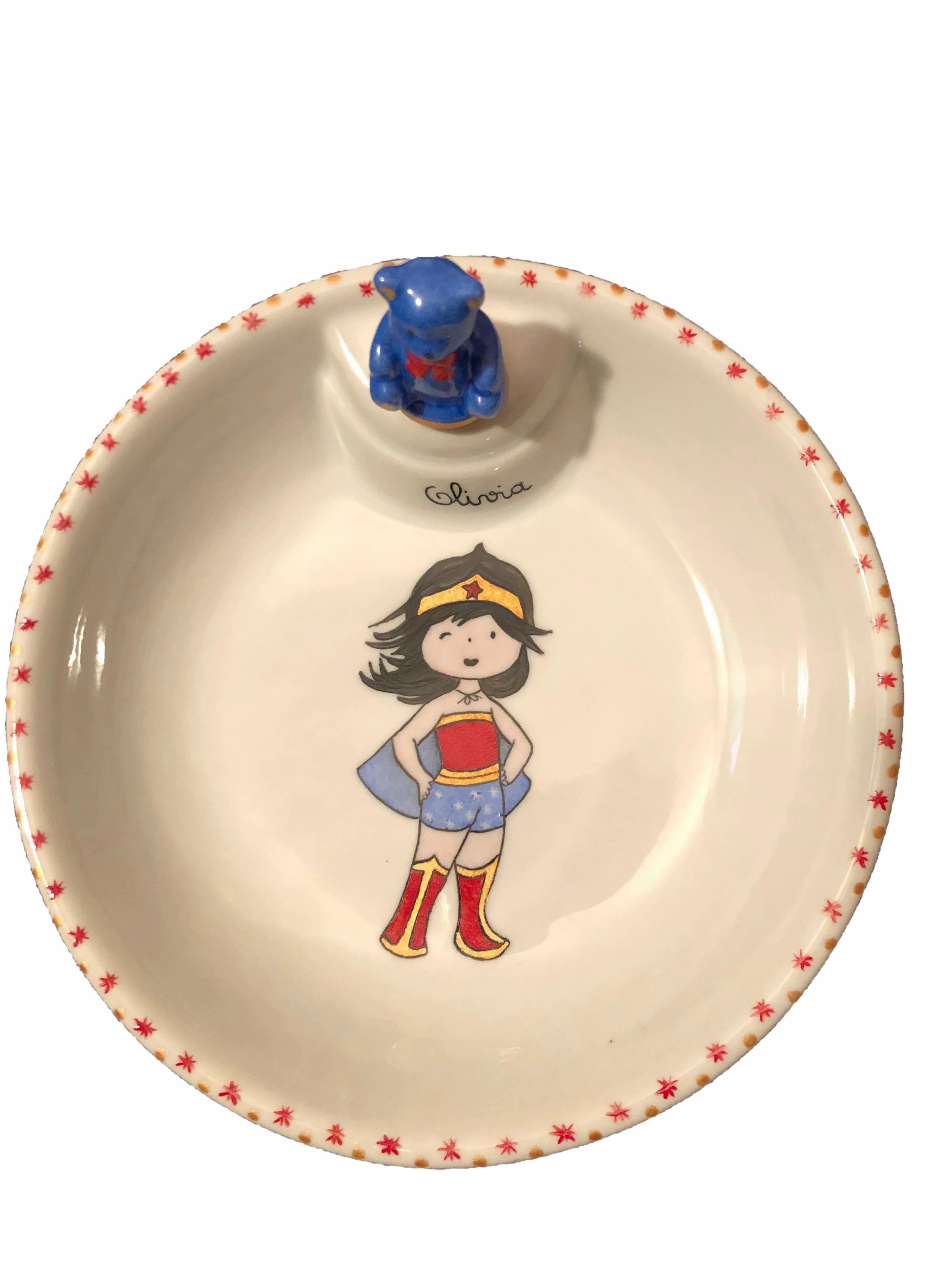 Assiette Chauffante Wonder Girl